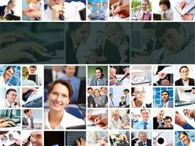 PowerPoint template displaying a number of pictures with various people in them