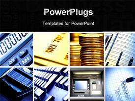 PowerPoint template displaying set of business theme depictions square crop