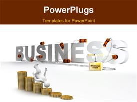 PowerPoint template displaying business in the stage of global world financial crisis