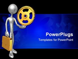 PowerPoint template displaying concept And Presentation Figure in 3D