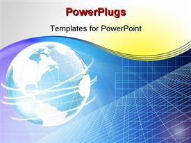 PowerPoint template displaying a globe in bluish color with a number of circles around it