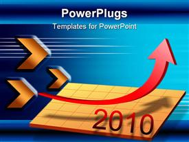 Business graph at chart is going up for success template for powerpoint