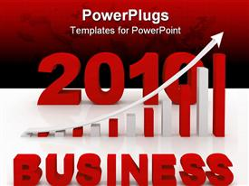 PowerPoint template displaying business success concept computer generated depiction for design in the background.