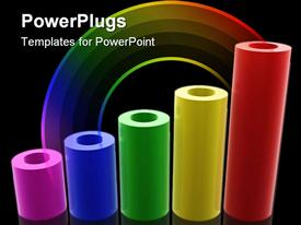 Colorful tube graph of business template for powerpoint