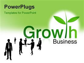 PowerPoint template displaying growth Business logo for business companies best place to invest your money. successful project