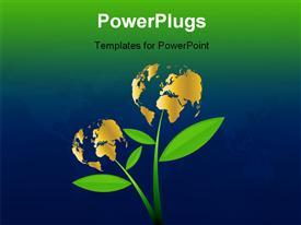 PowerPoint template displaying small World Business Fruitful Business More Care More Money
