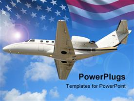 Luxury private jet for charter travel in flight powerpoint theme