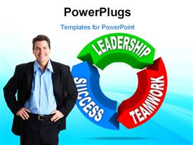 Business Leadership concept powerpoint design layout