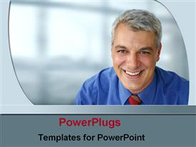Business man In tie powerpoint template