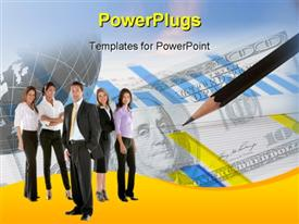Financial and business charts and graphs powerpoint design layout