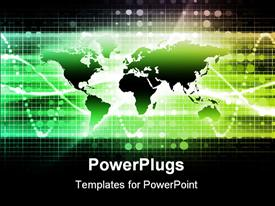 PowerPoint template displaying business Media Technology as a Background