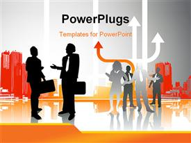 PowerPoint template displaying inner City Business See my gallery for more depictions