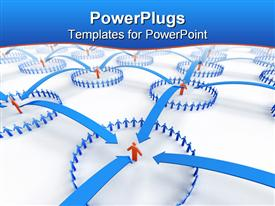 Business Network powerpoint design layout