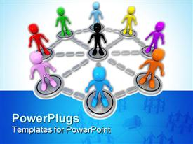 Computer generated image - Business Network powerpoint theme