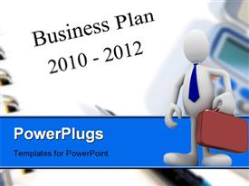 PowerPoint template displaying two year business and strategic planning towards 2012