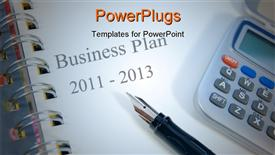 PowerPoint template displaying two year business strategic planning towards 2013