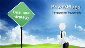 Business strategy presentation background