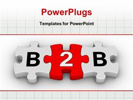 Business to business jigsaw puzzle symbol template for powerpoint