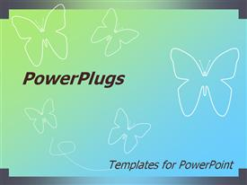PowerPoint template displaying template will fit presentations on nature, butterflies, insects, entomology