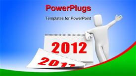 PowerPoint template displaying calendar. Depiction contain clipping path