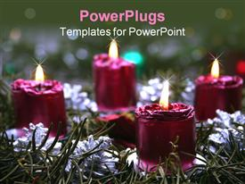Advent wreath powerpoint template