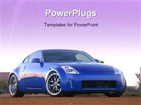 PowerPoint template displaying front of a Nissan 350Z