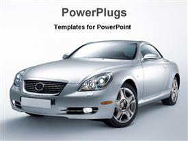 PowerPoint template displaying luxury car