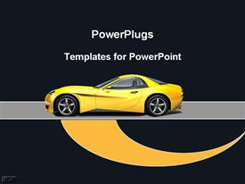 PowerPoint template displaying yellow sports car in the background.