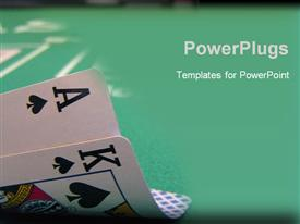 Big slick, ace and king of spades powerpoint design layout