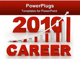 PowerPoint template displaying career Concept computer generated depiction for special design in the background.