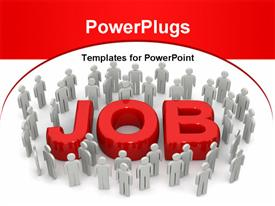 Career opportunity concept many people looking for job powerpoint theme
