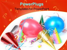 New year's eve party props powerpoint design layout