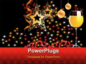 PowerPoint template displaying banner of 2010 - Happy New Year