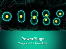 Close up of an isolated cell division powerpoint design layout