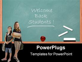 PowerPoint template displaying chalkboard