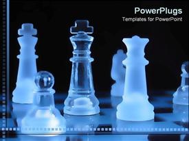 PowerPoint template displaying chess pieces in the background.