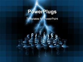 Chess render powerpoint template