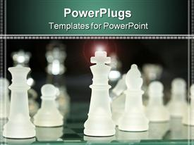 Opaque chess pieces--nicely lit powerpoint theme