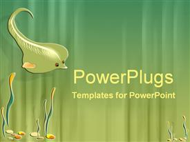 PowerPoint template displaying friendly stingray in the background.