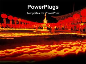 PowerPoint template displaying buddhism Event in the background.
