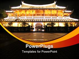 PowerPoint template displaying chinese Culture