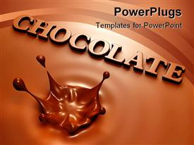 Simple chocolate splash and inscription template for powerpoint