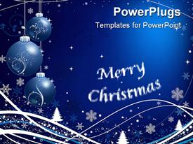 PowerPoint template displaying christmas celebrations