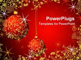 PowerPoint template displaying christmas Background
