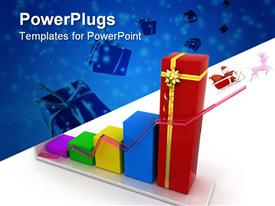 PowerPoint template displaying gift business on Christmas and new year