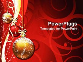 PowerPoint template displaying christmas Decoration