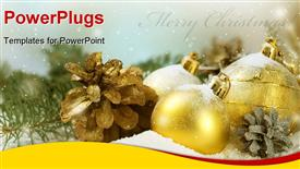 PowerPoint template displaying christmas