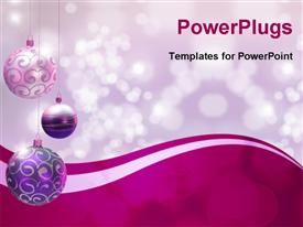 Christmas decoration over blurred shiny background. Space for text powerpoint theme