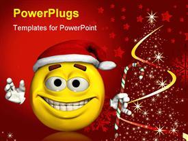 Christmas emoticon powerpoint theme