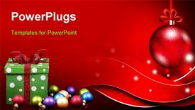 PowerPoint template displaying new year and Christmas holidays colorful background